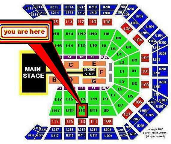Section 13 / Row R / Seats 3-4 & 5-6 (choose 2 or 4 together)