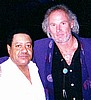 Frank with BB King's drummer, Kaleph Emphrey, Jr.